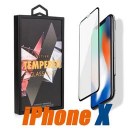 2019 caja de vidrio templado iphone Para Iphone X 10 8 7 7 plus Vidrio templado para Samsung S9 Note8 S8 Plus galaxia 3D 5D 6D Borde curvo con la moda Caja al por menor caja de vidrio templado iphone baratos