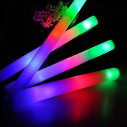 Deutschland LED Schaum Leuchtstäbe Flash 3 Modi Blinkend Multicolor Leuchtstäbe für Party Supplies Festivals Raves Geburtstage Kinder Teens Erwachsene Spielzeug supplier light stick baton Versorgung