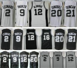 Wholesale Manu Black - 2018 City Edition Mens 2 Kawhi Leonard 9 Tony Parker 12 LaMarcus Aldridge Pau Gasol 20 Manu Ginobili 21 Tim Duncan Basketball Jerseys