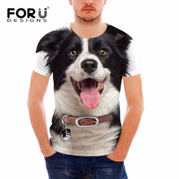 Wholesale Teen Boys T Shirt - FORUDESIGNS Funny 3D T Shirt for Teens Boys Top Tees Animal Dog Printing Short Sleeve O-Neck Bodybuilding Fitness T-shirts