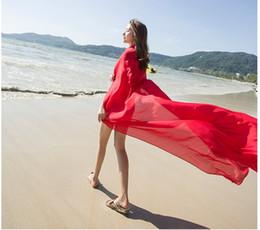 Argentina Nueva primavera y verano protector solar gran gasa playa toalla señoras bufanda de seda de color sólido vacaciones viajes Suministro