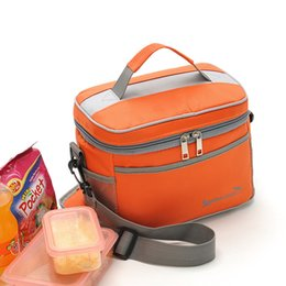 Wholesale red lunch - Portable Outdoor Lunch Bags Travel Aluminum Foil Insulated Cotton Oxford Fabric Picnic Kettle Keep Warm NNA178