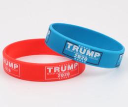 Козырь 2020 выборы браслет держать Америка большой силиконовый браслет браслеты красный синий козырь сторонников браслеты от Поставщики серебряный ремешок для часов