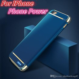 Wholesale External Backup Battery Case Iphone - Power Case for all iPhone models with ultra-thin Back clip-on external battery pack backup charger case
