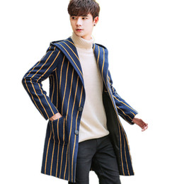 Wholesale Button Up Vest - Men's Jacket 2017 New Arrival Autumn  Winter Full Sleeves Single breasted Men's Casual Stripe Hooded Coats Asian size M-XXL
