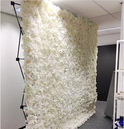 Piegatura di ferro online-Moda fiore muro di nozze con stand nero di ferro piegato tubo cornice del fiore per la decorazione della festa nuziale forniture