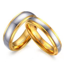Wholesale Tungsten Celtic Couple Ring - Wedding Ring 4mm 6mm gold plated Tungsten carbide wedding couple Ring for Men and woman comfort fit!