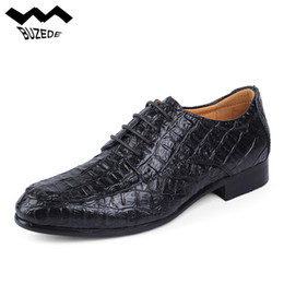 Крокодиловая обувь ручной работы онлайн-Buzede New Arrival Mens Casual Shoes Crocodile Pattern Men  Dress Shoes Handmade Men Business Shoes Formal Shoes Big 38-50