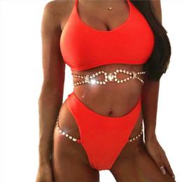 781bac611a04c Bikini Crystal Rhinestones Glitter Diamond Gems Swimwear Women Bikini Set  Beach Bathing Suit Swimsuit Push Up Brazilian Suit