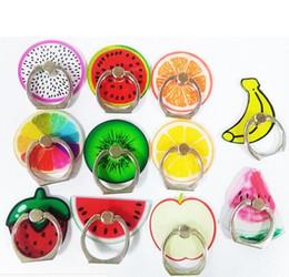 Wholesale fruit gifts - Fruit cartoon ring buckle metal phone holder creative gifts mobile phone ring bracket custom logo