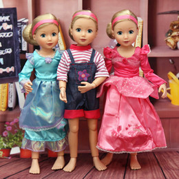 Wholesale Dolls Clothes Bjd - Wholesale-kawaii joint moveable bjd dolls DIY original toys for girl princess cosplay Doll & Body with reborn doll accessories clothes