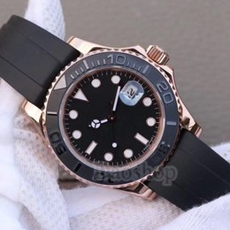 Wholesale Master Ceramics - 2018 New luxury Fashion yacht AAA master Ceramic Bezel Mens rubber band quartz Movement men Watch brand Sports roles mens Watches
