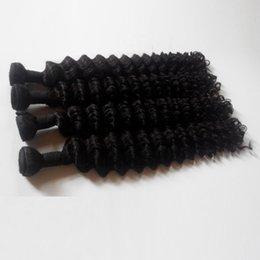 Cabelo virgem europeu onda profunda on-line-Venda quente brasileiro virgem cabelo humano tece 3 4 5 pcs dupla trama natural preto 8 - 28 polegada de onda profunda extensões de cabelo indiano remy indiano