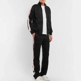 Wholesale Woven Pants - Hot Europe Fashion Men Women Luxury Sweatshirt Set Casual Zipper Outwear Pants Jogging Fitness Sport Wear Jacket Pants Tracksuit HFYMTZ002