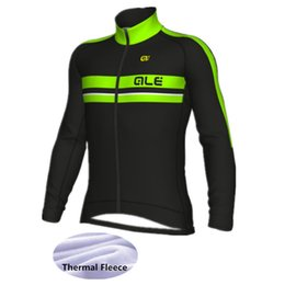 Wholesale Mens Cycling Jacket Xl - 2018 Sport Top Cycling Jerseys ALE Ropa Ciclismo Maillot Winter Thermal Fleece Mens Bicycle Clothing Bike Shirts Jackets Men&Women
