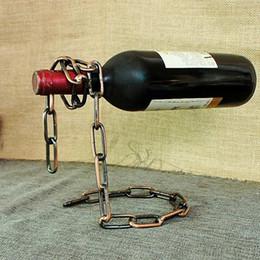 2019 étagère à bouteilles Porte-bouteilles de fer magique chaîne porte-bouteilles titulaire à la main placage étagère à vin affichage cadeau bar accessoires vaisselle décoration promotion étagère à bouteilles