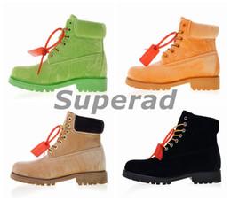 2019 scarpe da lavoro nere Moda Donna Stivali invernali Off Velvet Verde  Giallo Nero Bianco Donna efb1077b773