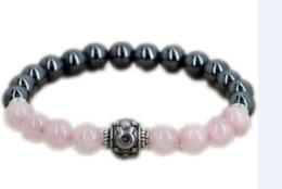 Jóia taurus on-line-12 pçs / lote presente de Aniversário para as mulheres da mamãe presente Rose pulseira de quartzo Taurus pulseira do Zodíaco Touro Horóscopo jóias
