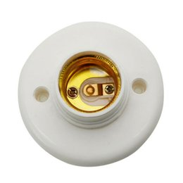 Wholesale light bulb holder fitting - 1PCS E27 Socket Lamp Base Holder Bulb Adapter Round Screw LED Light Fixing Fitting E27 Socket Connector Plug