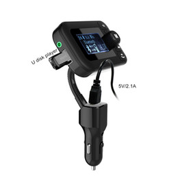 Wholesale Radio Receiver Kits - GEYIREN Wireless Bluetooth FM Transmitter Car Kit Radio Receiver with 2.0 Inch Display Car Charger Hands-free Styling