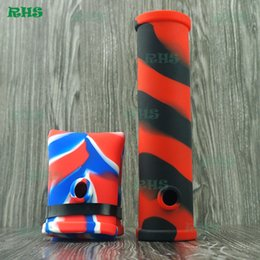 Wholesale Food Colouring Colours - Folding food grade silicone bong and smoking pipe without base full colours for choose DHL free shipping S-03