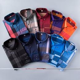 Wholesale 2019 chemise à carreaux de culture d entreprise américaine marque chemise à manches longues en coton de marque de designer de mode chemise à rayures co robe