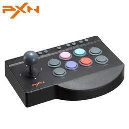 joystick jogos de luta Desconto PXN 0082 Arcade Fighting Joystick TURBO MACRO Função para TV Box / Phone / PC Game Controller Joystick para PS3 / PS4 / Xbox One