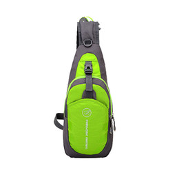 Paquetes de cofre de senderismo online-Ultralight Chest Pack Youth Outdoor Cycling Running Sport Bag Impermeable Senderismo bolso de la honda Leisure Fitness Gym Shoulder Daypack