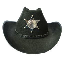 Sombrero de vaquero de Halloween Sombrero de sheriff Tema Disfraz  Accesorios Hombres Divertido Partido Etapa Cosplay Bromas Sombrero Envío  gratis db7ad75164c