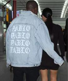 Pablo Kanye Veste En Jean Pablo Vestes Kanye Ouest Est Rue Streetwear Veste En Jean Hommes Cowboy Manteaux Veste Homme ? partir de fabricateur