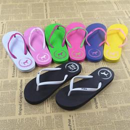 Wholesale Girls Flip Flops - Mix Colors Girls Women Love Pink Flip Flops Sandals Pink Letter Beach Slippers Shoes Summer Soft Sandalias Beach Slippers 20 paris