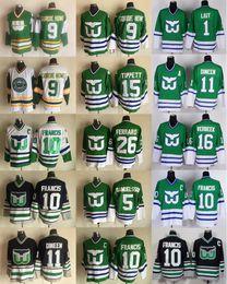 d7b7ea164 Hartford Whalers 9 GORDIE HOWE 10 Ron Francis Ray Ferraro 5 Ulf Samuelsson  Pat Verbeek Kevin Dineen 1 Mike Liut DAVE TIPPETT Hockey Jerseys hartford  whalers ...