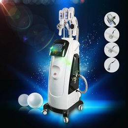 Wholesale Laser Lipolysis Machines - 2018 New Fat Freezing Machine With Double Cool Sculpting Cryo Lipolysis + Lipo Laser + Cavitation+RF Weight Loss Slimming Machine For Spa CE