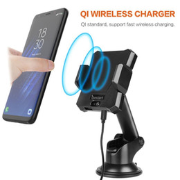 Wholesale Air Ericsson - Qi Car Wireless Fast Charger For iPhone X 8 Plus Phone Holder Air Vent Style Wireless Car Charging Pad For Samsung S7 edge S8 Plus Note 8