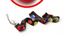 Брелок для мобильного телефона онлайн-10 PCS Cartoon Neck Strap Lanyard Mobile Phone Charms Key Chain ID Badge Key Chains PA6