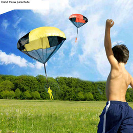 Wholesale Fun Exercises - Hand throw parachute kids outdoor game play fun exercise toy sport Children sky fly educational Paragliding Kite Random Color