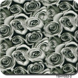 Wholesale hydro dip - cnHGarts 0.5m width grey rose aquaprint Hydro Dipping Film Water Transfer Printing Film transfer flower WTP052-2