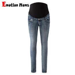 c87f1147b12f Emotion Moms Maternity Jeans Pants For Pregnant Women Maternity Trousers  Pregnancy Pants Overalls Denim Long Prop Belly Legging