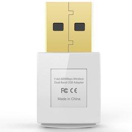Wholesale Dual Band Wireless Adapter - EDUP EP-AC1619 Wireless Mini Dual Band 802.11AC 600Mbps ireless Adapter WI-FI USB Mini Adapter 802.11AC 2.4G 5.8G