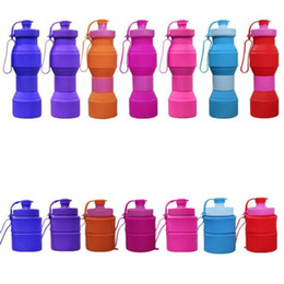 Wholesale outdoor hand warmer - Travel Water Bottle Silicone Retractable Folding Water Bottles Outdoor Telescopic Collapsible Folding Tumbler Cups Folding Water Cup