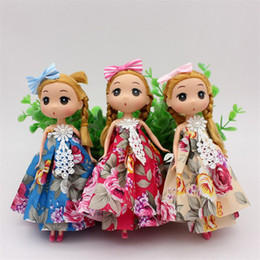 2019 muñeca mariposa Venta al por mayor 1 Unids 18 CM Mariposa Confusa Baby Doll Juguetes para niños Vestido de Novia Muñecas Llavero Bolsa Colgante Regalos Creativos muñeca mariposa baratos