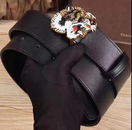 Wholesale Tiger Belt Buckles - Hot selling Black Luxury High Quality ceinture Designer Belts Fashion Tiger animal pattern buckle belt mens womens belt for gift