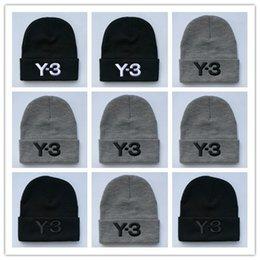 kaschmir-baseballmütze männer Rabatt Großhandel Y-3 Mützen Winter Stickerei Hüte für Frauen Männer Hip Hop Jungen Mädchen Damen Cashmere Schädel Kappen Harajuku Punk warme Outdoor gestrickt