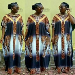 abiti americani cinesi Sconti Stampa lunga di stampa di nazione di stampa del modello del fiore di Dashiki di stile africano allentato del nuovo di modo eccellente di nuova dimensione per signora