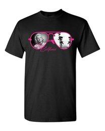 Gafas de ropa caliente online-Camiseta de la venta caliente Ropa Corta Marilyn Monroe Gafas Sexy Star Beach Love California Diseño Camisetas para hombres