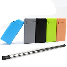 Wholesale foldable bars - Stainless Steel Drinking Straws Portable Final Straw Mini Foldable Tubularis Reusable Color Indoor Outdoor Tools Hot Sale 25ft WW