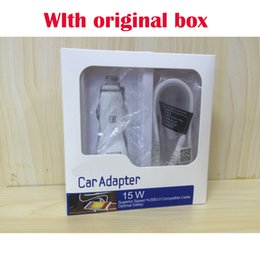 Wholesale Travel Charger Iphone Box - Travel Fast Car Charger + Original 1.5M Micro Usb Data Cable For Samsung S6 S7 S8 Edge Note 8 With Retail box