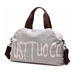 877816291b3e Vintage Women s Canvas Handbag Women Bags Carry On Luggage Bag Travel Duffle  Tote Large Capacity Ladies Letter Print