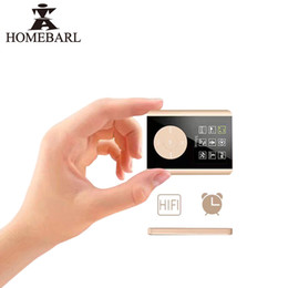 "Reloj de tarjeta de video online-HOMEBARL Nuevo reloj despertador HIFI 1.8 ""3º LCD Reproductor MP4 2GB 4GB 8GB 16GB Con ranura para tarjeta Micro SD / TF Altavoces Reproductores de video musical"