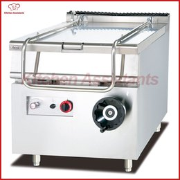 Wholesale free standing kitchens - GH980 gas tilting braising pan cooker machine Free Standing Stainless Steel 80 Liters Commercial Kitchen combination Oven